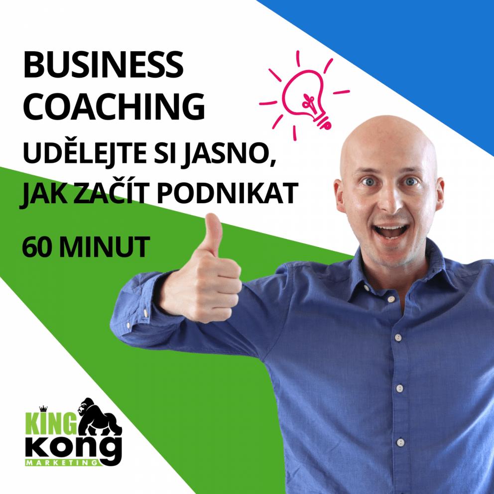 Business coaching 60 minut dá jasnost jak začít podnikat